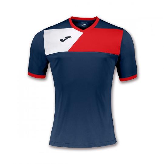 Camiseta  Joma Crew II m/c Marino-Rojo-Blanco