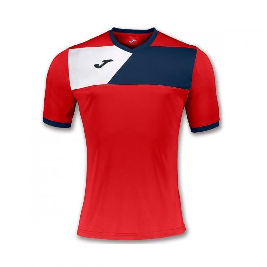 Camiseta  Joma Crew II m/c Rojo-Marino-Blanco