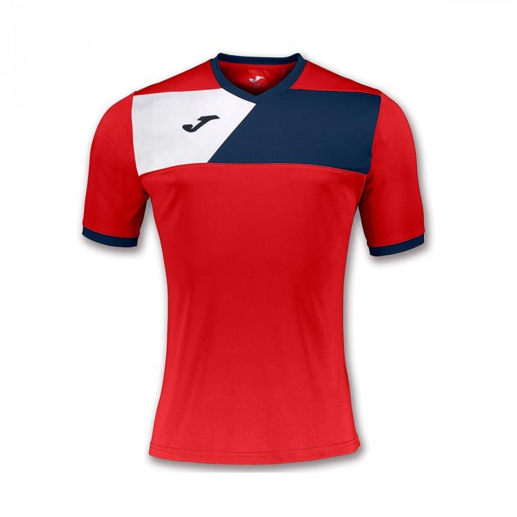 1fc3e0d089b2c Jersey Joma Crew II ss Red-Navy blue-White - Football store Fútbol ...