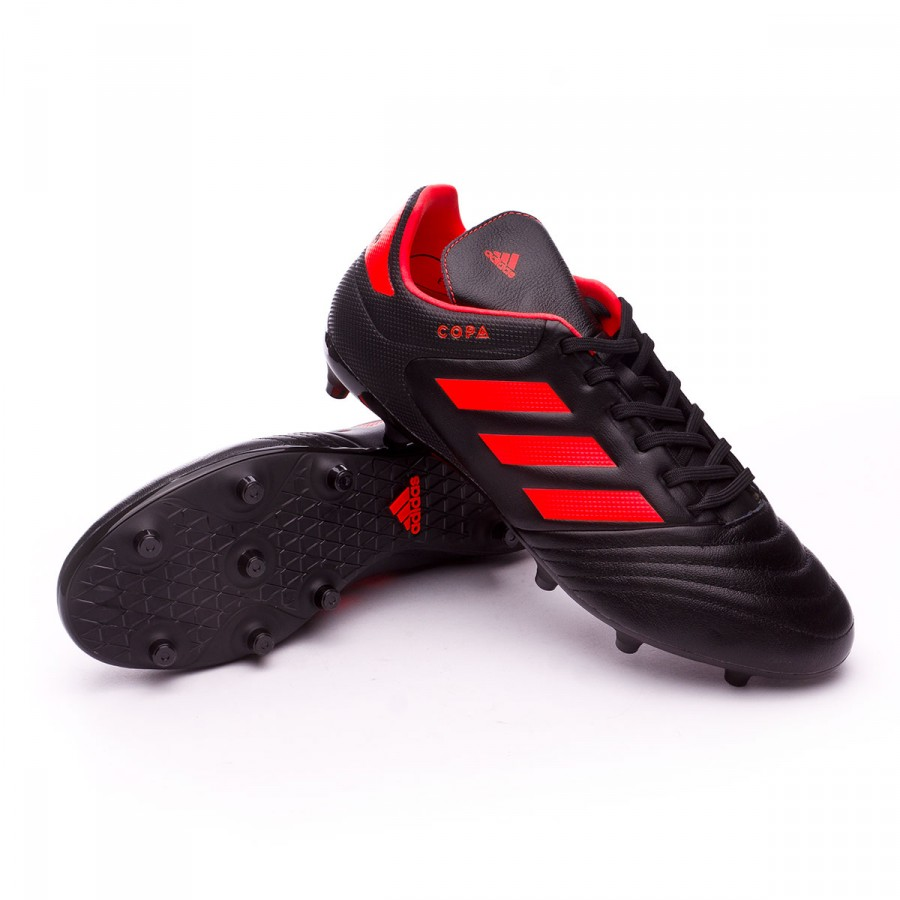 Boot adidas Copa 17.3 FG Core black-Solar red - Football store ... b37bea3f55