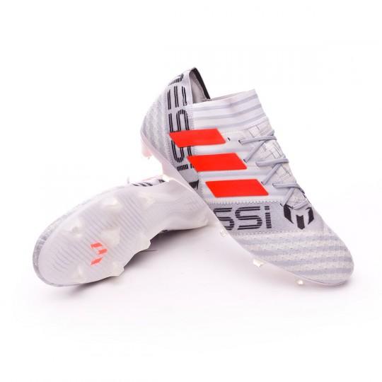Chaussure  adidas Nemeziz Messi 17.1 FG White-Solar orange-Clear grey