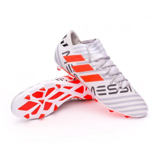 Chaussure  adidas Nemeziz Messi 17.3 FG White-Solar orange-Clear grey