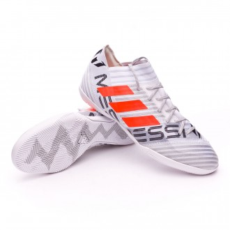 Zapatilla  adidas Nemeziz Messi 17.3 IN White-Solar orange-Core black