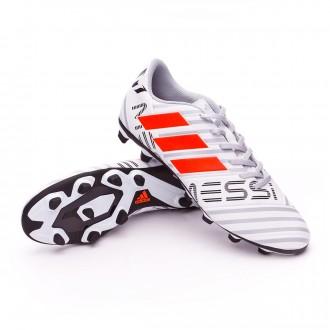 Chuteira  adidas Nemeziz Messi 17.4 FxG White-Solar orange-Clear grey