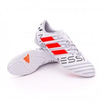Sapatilha de Futsal  adidas Nemeziz Messi 17.4 IN White-Solar orange-Clear grey