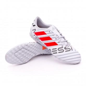 Zapatilla  adidas Nemeziz Messi 17.4 Turf White-Solar orange-Clear grey