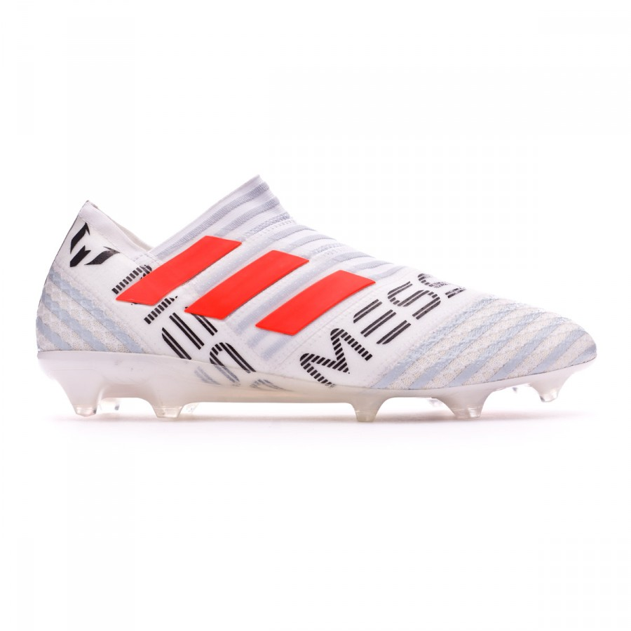 03feb9a4ebe1 Football Boots adidas Nemeziz Messi 17+ 360 Agility FG White-Solar  orange-Clear grey - Football store Fútbol Emotion