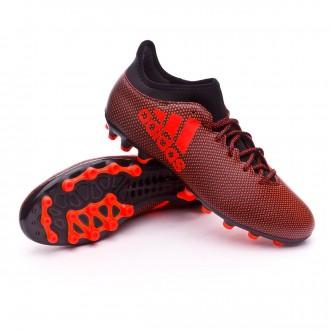 Bota  adidas X 17.3 AG Core black-Solar red-Solar orange
