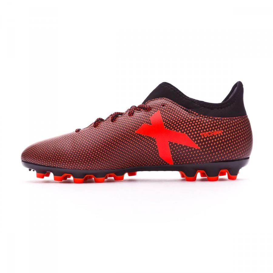 31ed7a9a38535 Bota de fútbol adidas X 17.3 AG Core black-Solar red-Solar orange - Tienda  de fútbol Fútbol Emotion