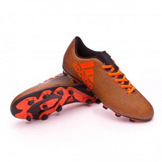 Bota  adidas X 17.4 FxG Core black-Solar red-Solar orange