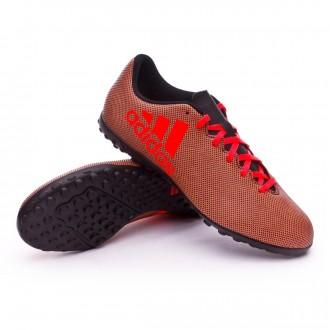 Zapatilla  adidas X 17.4 Turf Core black-Solar red-Solar orange