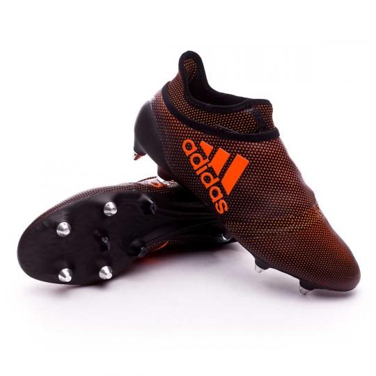 Boot  adidas X 17+ Purespeed SG Core black-Solar red-Solar orange