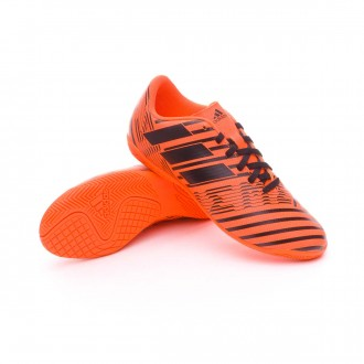 Sapatilha de Futsal  adidas Jr Nemeziz 17.4 IN Solar orange-Core black-Solar orange