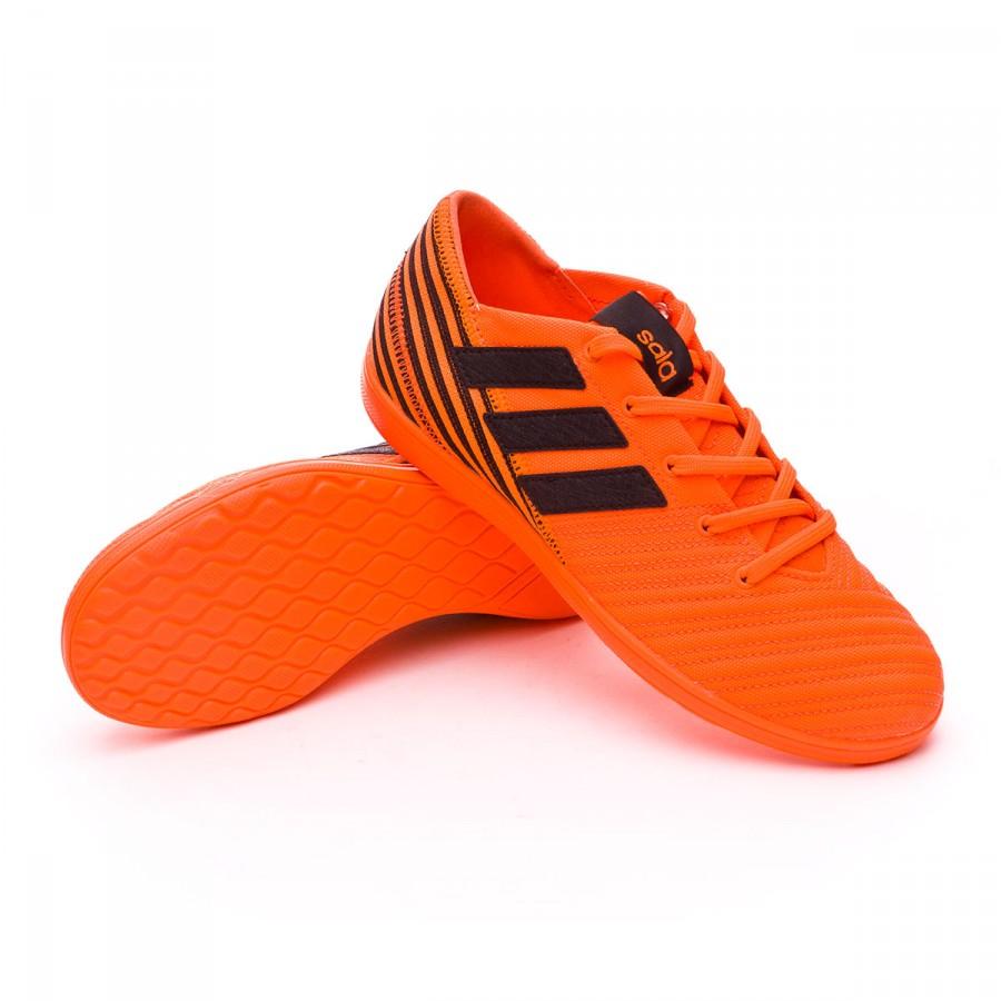 198b1814a6b07 Zapatilla adidas Nemeziz 17.4 IN Sala Niño Solar orange-Core black - Tienda  de fútbol Fútbol Emotion