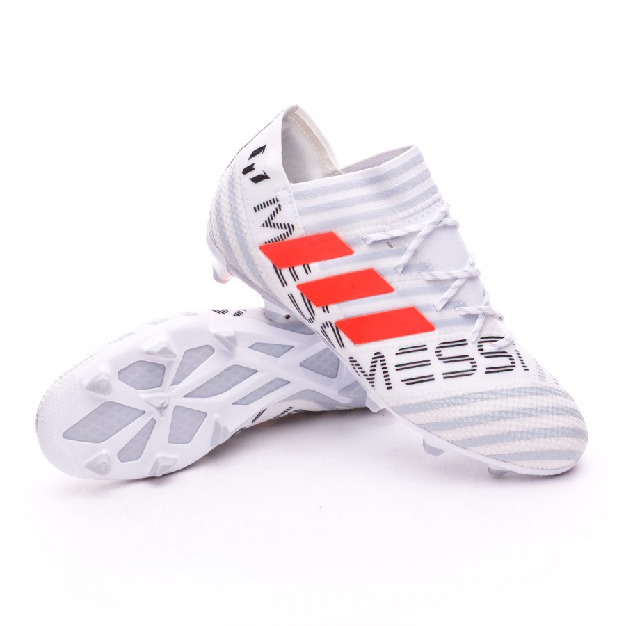 857a68dd3 adidas Kids Nemeziz Messi 17.1 FG Football Boots. White-Solar orange-Clear  grey ...