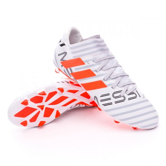 Chaussure  adidas Jr Nemeziz Messi 17.3 FG White-Solar orange-Clear grey