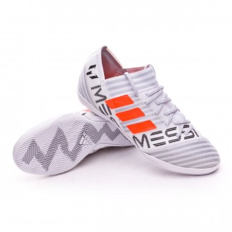 Zapatilla  adidas Nemeziz Messi 17.3 IN Niño White-Solar orange-Core black