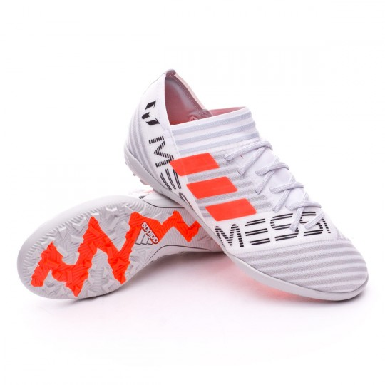Scarpa  adidas Jr Nemeziz Messi 17.3 Turf White-Solar orange-Core black