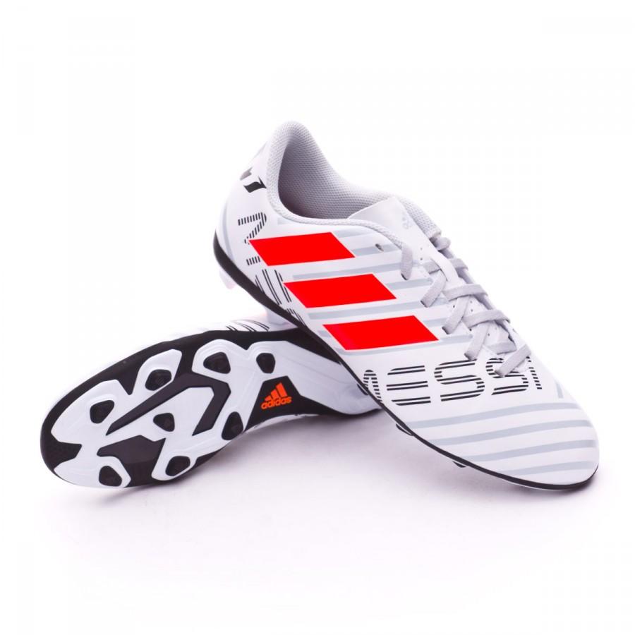 4b2e1712c4f84 Chuteira adidas Nemeziz Messi 17.4 FxG Crianças White-Solar orange-Clear  grey - Loja de futebol Fútbol Emotion