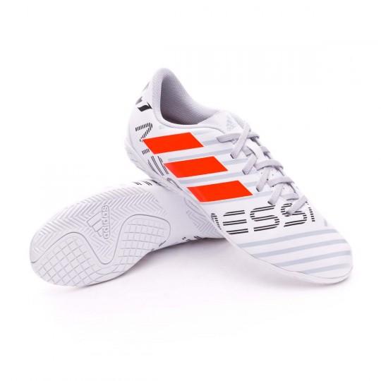 Scarpa  adidas Jr Nemeziz Messi 17.4 IN White-Solar orange-Clear grey