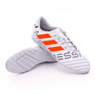Zapatilla  adidas Nemeziz Messi 17.4 Turf Niño White-Solar orange-Clear grey