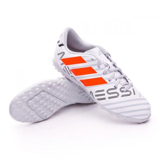 Scarpa  adidas Jr Nemeziz Messi 17.4 Turf White-Solar orange-Clear grey