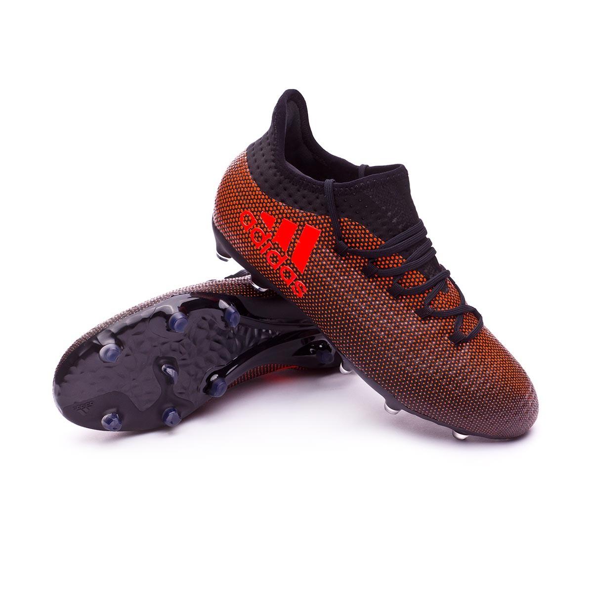 Zapatos de fútbol adidas X 17.1 FG Niño Core black-Solar red-Solar orange -  Soloporteros es ahora Fútbol Emotion 54a9e291bac96