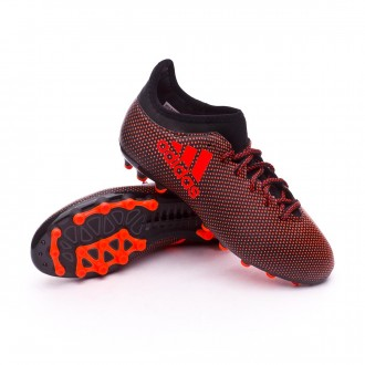 Bota  adidas X 17.3 AG Niño Core black-Solar red-Solar orange