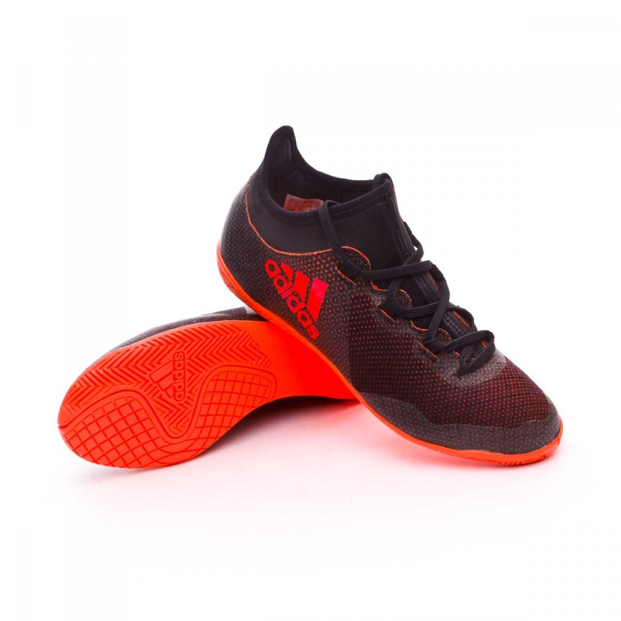 267b87100f6ca Chaussure de futsal adidas X Tango 17.3 IN enfant Core black-Solar  red-Solar orange - Boutique de football Fútbol Emotion