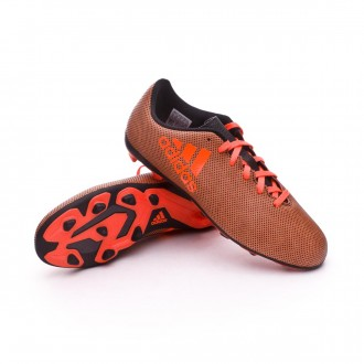Bota  adidas X 17.4 FxG Niño Core black-Solar red-Solar orange