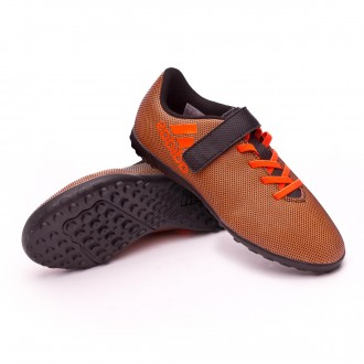 Zapatilla  adidas X 17.4 Turf H&L Niño Core black-Solar red-Solar orange
