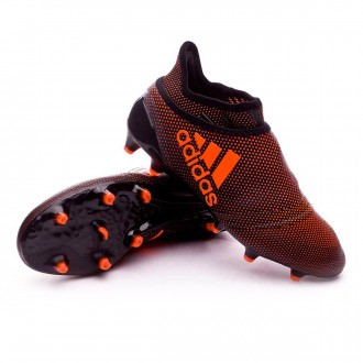 Bota  adidas X 17+ Purespeed FG Niño Core black-Solar red-Solar orange
