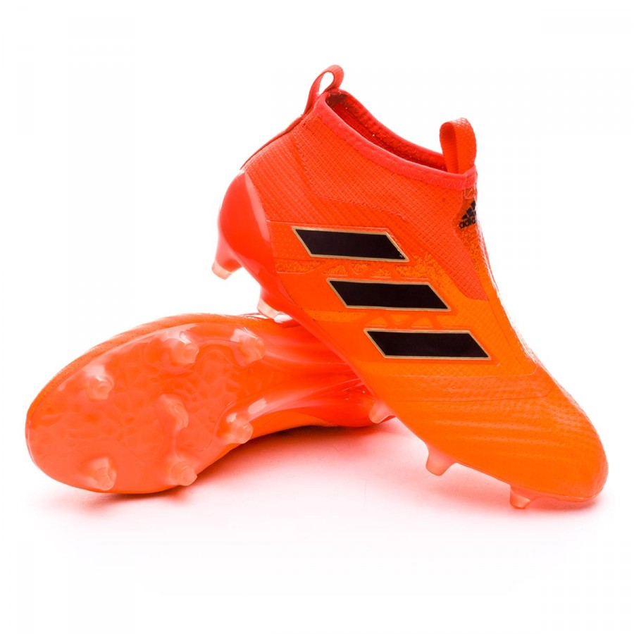 71f09926 Football Boots adidas Ace 17+ Purecontrol FG Kids Solar orange-Core ...
