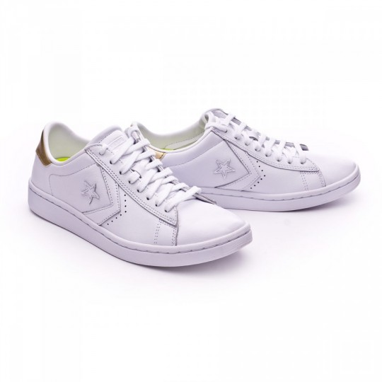 Sapatilha  Converse PL LP OX Mujer White-Light gold-White