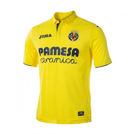 Camisola  Joma Villarreal CF Principal 2017-2018 Amarelo