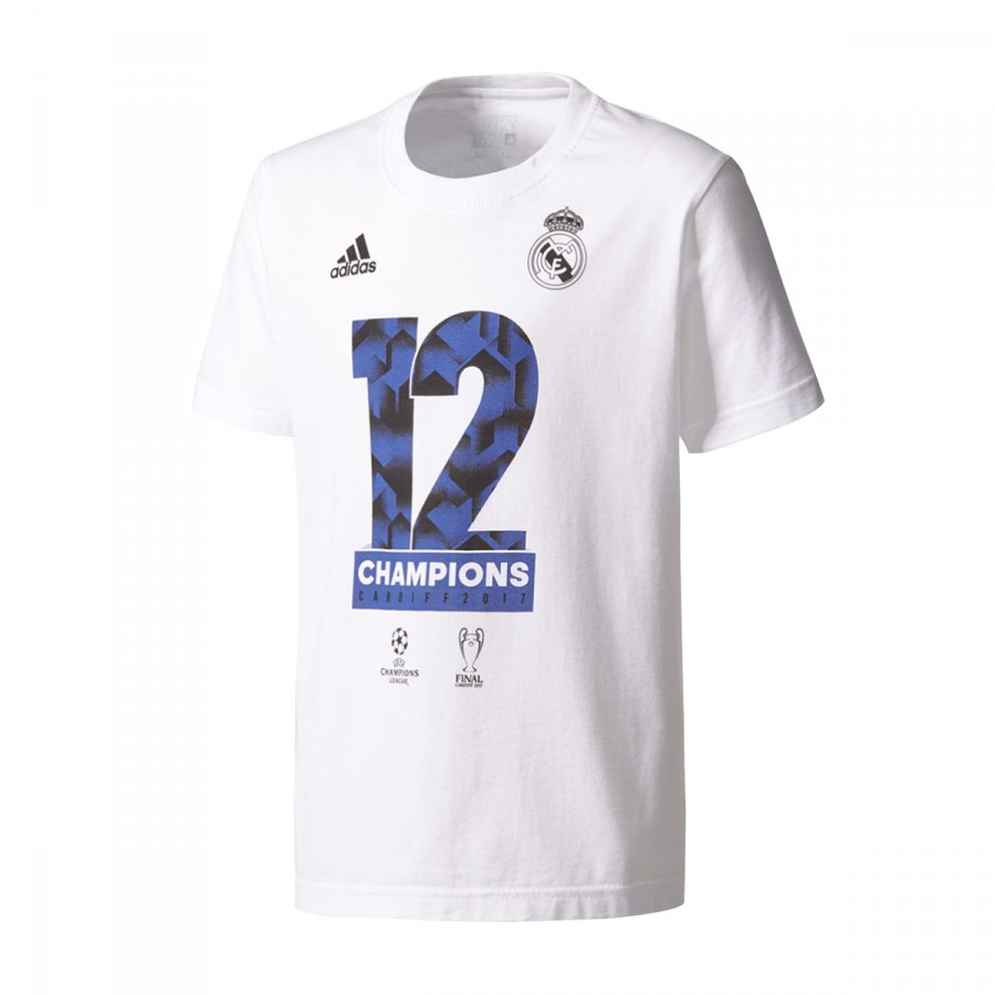... Camiseta Real Madrid Campeón 12 UCL 2017 Niño White. CATEGORÍA 9791d91c63d68