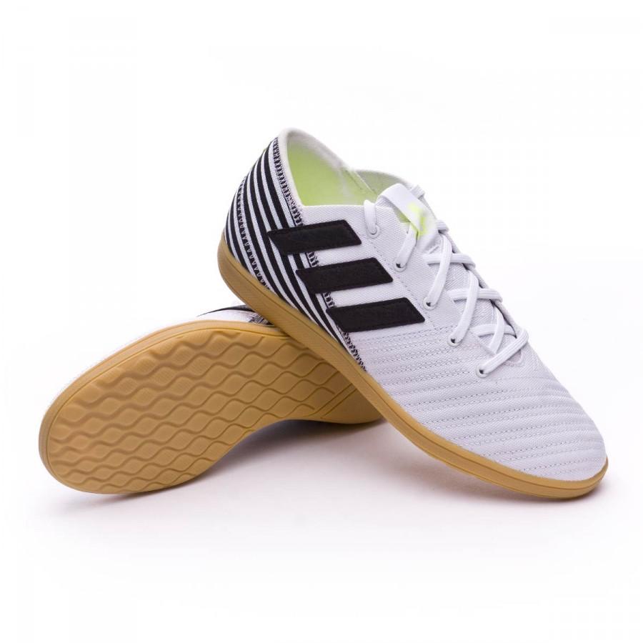 6717284ebe06f Zapatilla adidas Nemeziz 17.4 IN Sala Niño White-Core black-Solar yellow -  Tienda de fútbol Fútbol Emotion