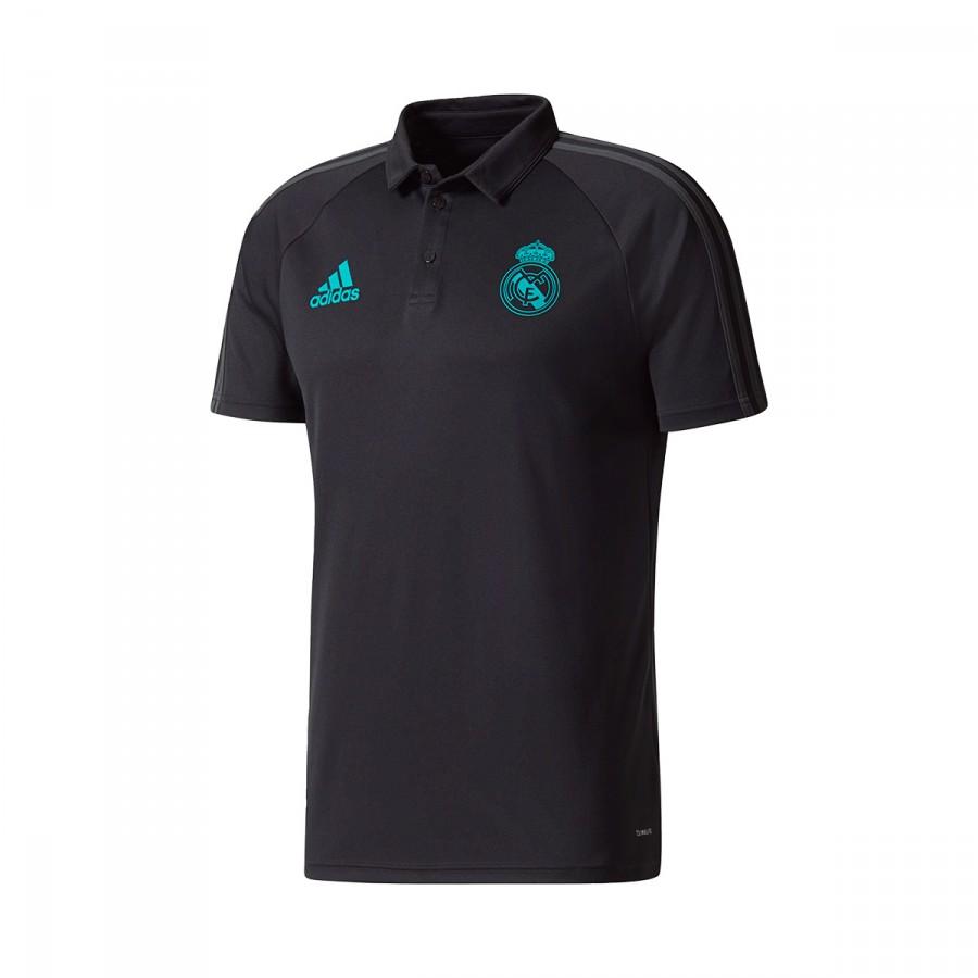 Polo adidas Real Madrid 2017-2018 Black - Soloporteros es ahora ... 8ce876d21382e