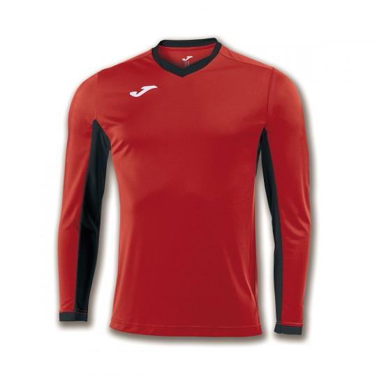 Camiseta  Joma Champion IV m/l Rojo-Negro