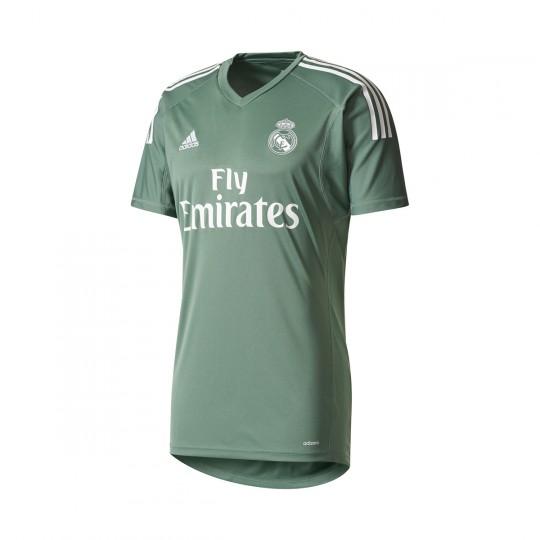 Camiseta  adidas Real Madrid Primera Equipación Portero 2017-2018 Trace green-White