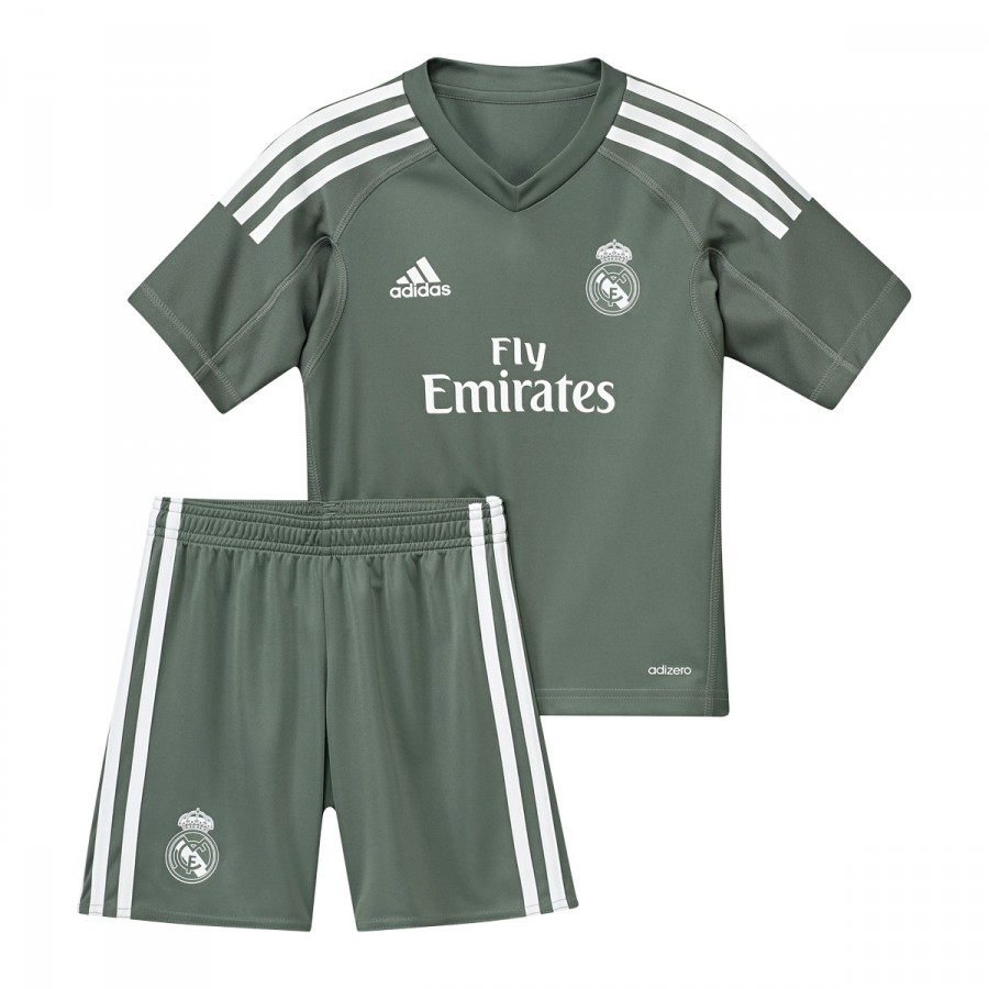 ... Conjunto Real Madrid Primera Equipación Portero Niño 2017-2018 Trace  green-White. CATEGORY. Official products b6b9b998124ad