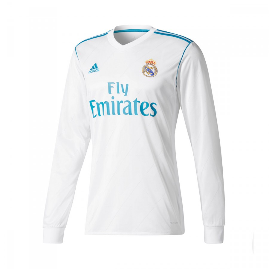 4f59605ba3ee3 Jersey adidas Real Madrid Home m l 2017-2018 White-Vivid teal ...