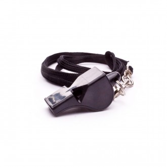 Jim Sports Plastic whistle with strap Black