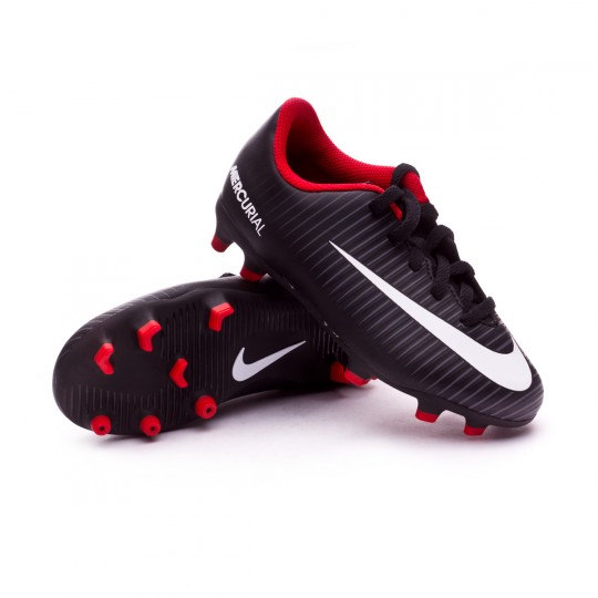 Bota  Nike jr Mercurial Vortex III FG Black-White-Dark grey-University red