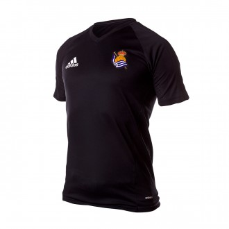 Camiseta  adidas Real Sociedad Training 2017-2018 Black-Dark grey-White