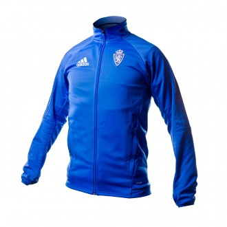 Chaqueta  adidas Real Zaragoza Pre-Match 2017-2018 Blue-Collegiate navy- White