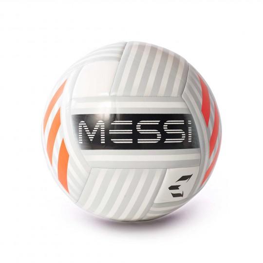 Balón  adidas Messi Glider White-Clear grey-Solar red