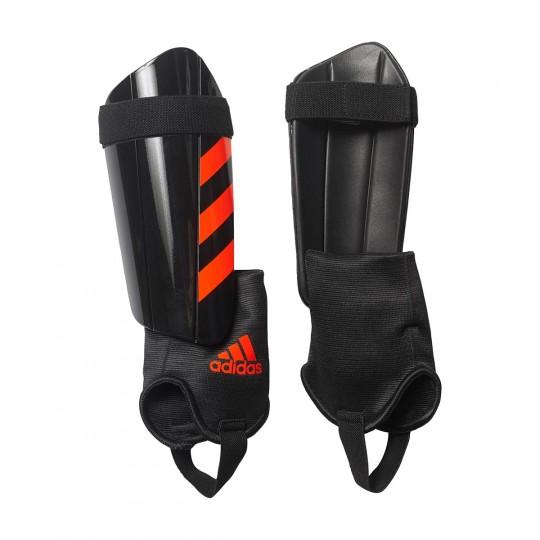 Espinillera  adidas Ghost Club Black-Solar red