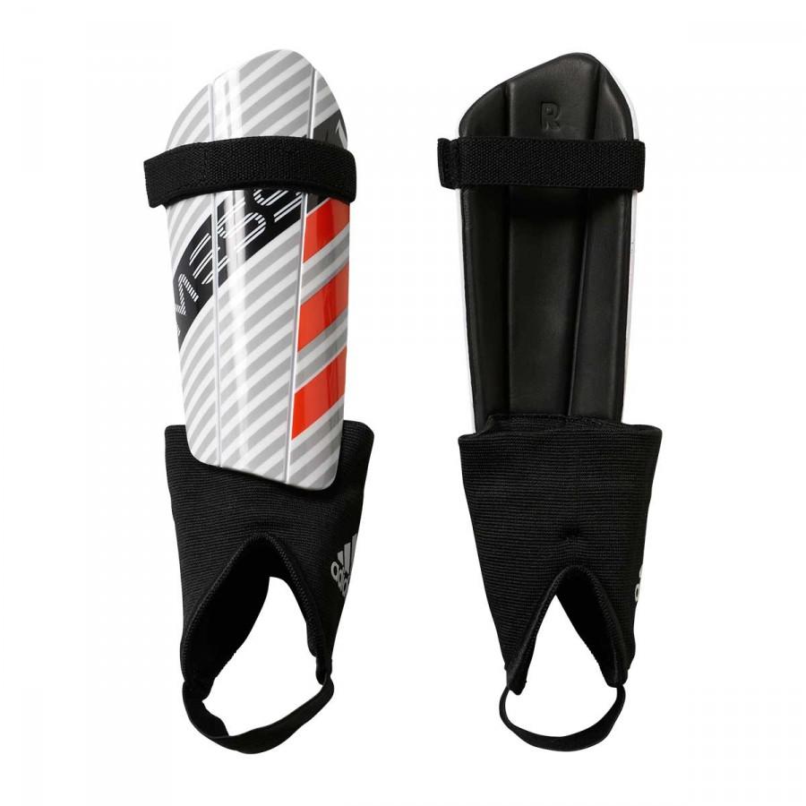 Espinillera adidas Messi 10 Niño White-Clear onix-Black-Solar red ... 469bebe8baa52