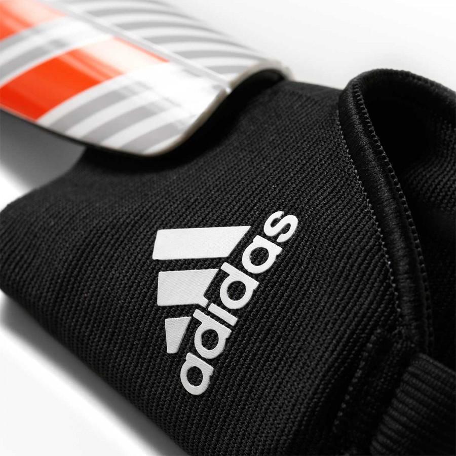 Shinpads adidas Kids Messi 10 White-Clear onix-Black-Solar red -  Soloporteros es ahora Fútbol Emotion d7e0495b4ca09